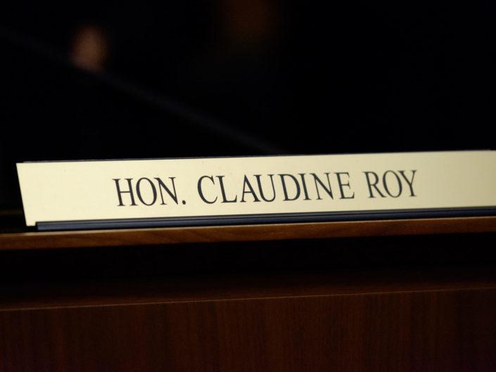 Assermentation Juge Claudine Roy